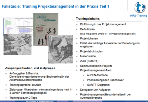 Projekt-Management, IHRS Training, Dr. Rolland Donin